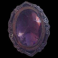 Purple Rhinestone Victorian Revival Dress Clip