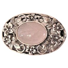 Victorian Sterling Moonstone  Pin Brooch