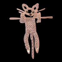 Rhinestone Cat Pin Brooch