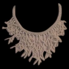 White Glass Seed Beads Bib Necklace