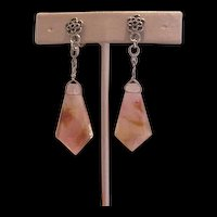 Rock Crystal Dangling Earrings