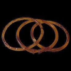 Vintage Glass Bangle Bracelets Set