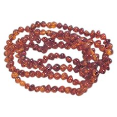 Single Strand Amber Beads Necklace