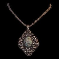 Large Italian Art Glass Medallion Necklace