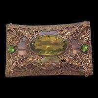 Antique Rhinestone Sash Pin