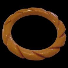 Bakelite Twisted Bangle Bracelet