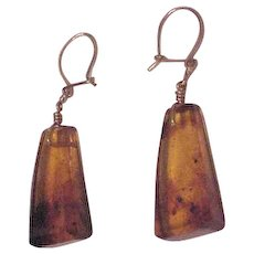 Translucent Amber Earrings