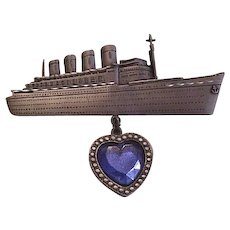 Large Titanic Pin Dangling Star of the Ocean