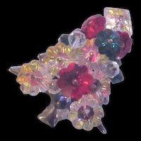 Colorful, Margarita Rhinestone Christmas Tree Pin
