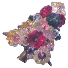 Colorful, Margarita Rhinestone Christmas Tree Pin