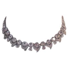 Weiss Rhinestone Necklace Flashy!