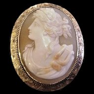 14 KT Gold and Shell Cameo