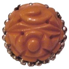 Butterscotch Bakelite Pin
