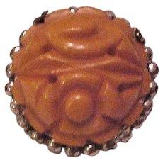 Butterscotch Bakelite Pin