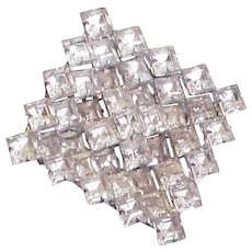 Square Rhinestone Pin  Shadow box Styling
