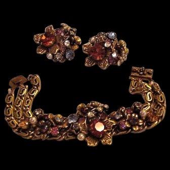 Coro Bracelet and Earrings
