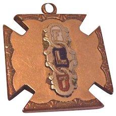 Victorian Oddfellows  Medal Fob