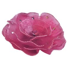 Huge Rhinestone Studded Cellulose Acetate Flower Pin