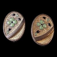 Antique Enamel Cufflinks