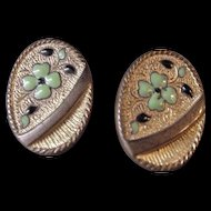 Antique Enamel Cufflinks