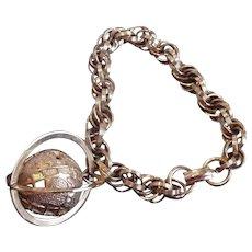 Vintage Globe Charm Bracelet