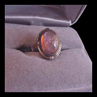 Edwardian Rolled Gold Plate Dragon's Breath Ring