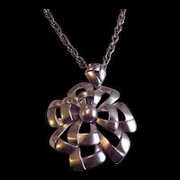 Large Trifari Pendant Necklace