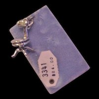 Sterling Silver Office Chair Mechanical Charm Original Card