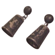 Sterling Silver Siam Bell Earrings