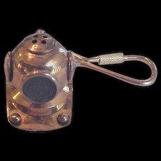 Vintage Brass Divers Helmet Mask Key Ring