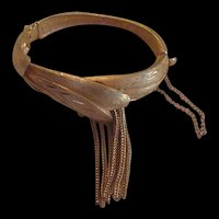 Fringe Hinged Bangle bracelet