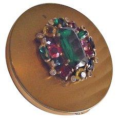 Eisenberg Original Rhinestone Jeweled Compact