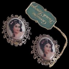 Limoges France Earrings for Whiting and Davis