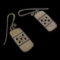 Vintage Artisan Sterling Silver Earrings
