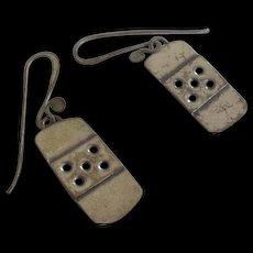 Vintage Artisan Sterling Silver Earrings