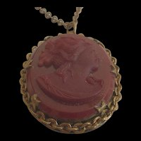 Victorian Revival Cameo Necklace