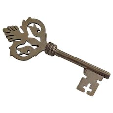 Sterling silver Skeleton Key Pendant Pin
