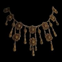 Victorian Revival Faux Cannetille Necklace