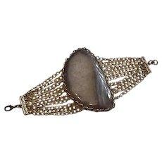 Huge Agate Artisan Created Bracelet