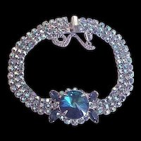 Delizza and Elster aka Juliana Blue Rhinestone Bracelet
