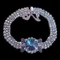 Delizza and Elster aka Juliana Blue Rhinestone Bracelet