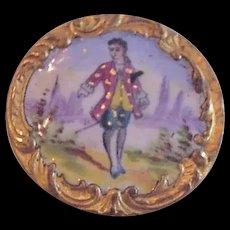 Antique Victorian Enamel Button