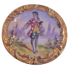 Antique Victorian Enamel Button