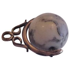 Antique Victorian Globe Watch  Fob  Pendant