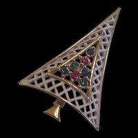 Mid Century Christmas Tree Pin