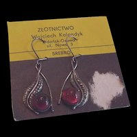 Baltic Amber Earrings  on Original Card