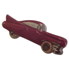 Vintage Ceramic Automobile Pin