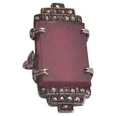 Art Deco Sterling Marcasite Ring
