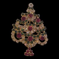 Christmas Tree Rhinestone Pin