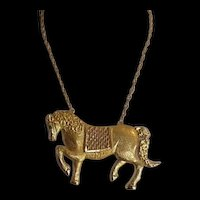 Large Articulating Horse Necklace